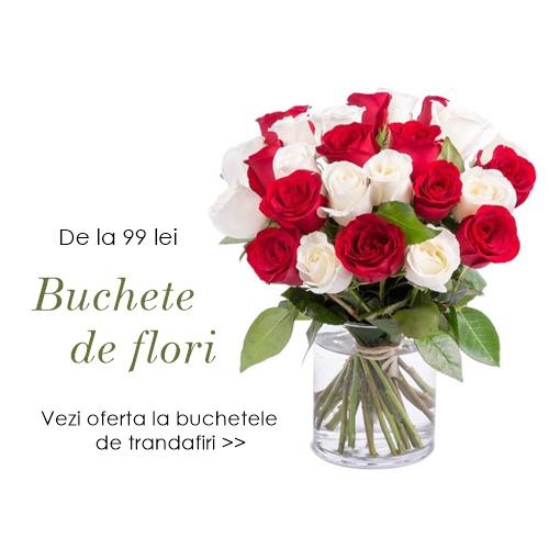 buchete de trandafiri albi si rosii