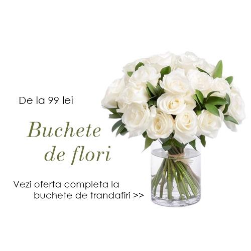 buchete de flori trandafiri albi